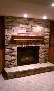 bucks county country ledgestone gas insert twin city fireplace