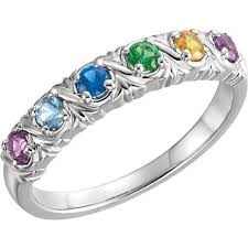 mothers ring 6 stones s birthstone rings