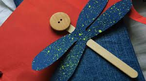 make a cute popsicle stick dragonfly diy crafts guidecentral