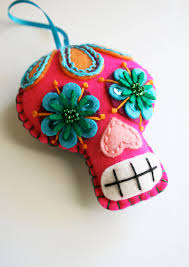 large sugar skull ornament day of the dead dia de los muertos