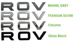 jaguar land rover logo titanium silver bonnet lettering range rover l322 logo text font
