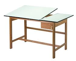 Split Top Drafting Table Alvin Wsb60 Titan Ii Split Top Solid Oak White Top