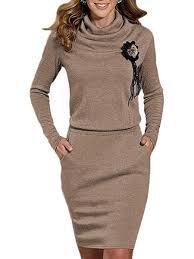 bodycon dresses cowl neck slit pocket plain blend bodycon dresses fashionmia