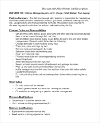Dishwasher Job Description For Resume by Impressive Brilliant Kitchen Manager Job Description Finance