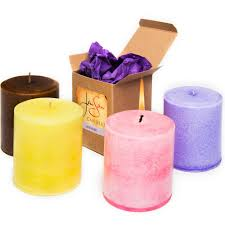 jensan fireside candle pillar
