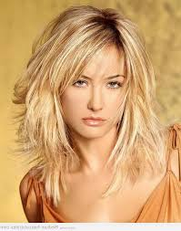medium short layered hairstyles with bangs women medium haircut