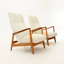 High Armchairs Model 829 High Back Armchairs By Gio Ponti For Cassina 1958 Set