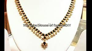 black bead necklace images Muvvala haram with black bead black dori necklace with ball jpg