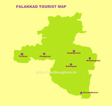 South India Map by Palakkad Tourist Map Tourist Attractions In Palakkad Kerala