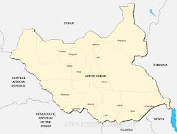 South Africa Political Map by South Sudan Political Map
