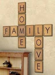 Large Wall Decor Ideas For Living Room Family Wood Scrabble Wall Art Scrabble Tiles Diy Wood And Scrabble