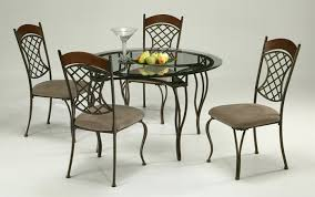 Round Glass Top Dining Table Set Dining Room Tables Round Modern Sets Glass Presenting