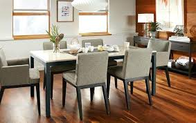 White Parsons Dining Table Room Board Parsons Dining Table Tables Barn And Custom Aria Round