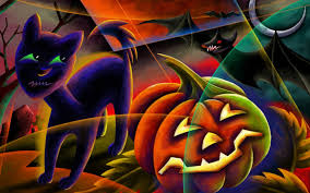 black cat halloween background happy halloween black cat bat pumpkin jack o u0027 lantern moon eclipse