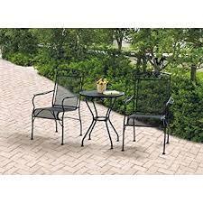Amazon Com Patio Furniture by Amazon Com Wrought Iron 3 Piece Chairs U0026 Table Patio Furniture