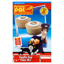 postman pat vanilla cup cake mix 200g baking food