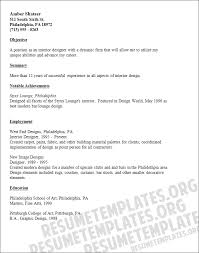 resume format for free professional interior designer resume templates to showcase your