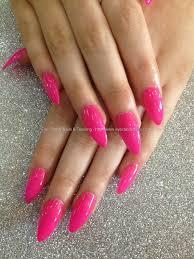 social build full set acrylic stiletto tips with gel polish