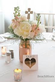 Mason Jars Wedding Centerpieces by Home Decor Vase Metallic Mason Jar Centerpiece Rose By Beachblues
