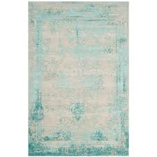 Overdyed Area Rugs by Nuloom Vintage Inspired Overdyed Turquoise 4 Ft X 6 Ft Area Rug