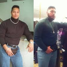 the rock tweeted these phenomenal photos of people dressed up as him