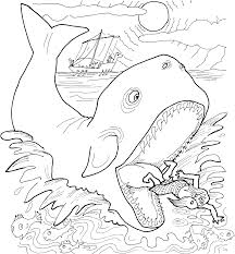 coloring page free printable jonah and the whale coloring pages