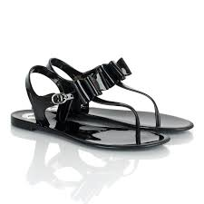 bcbgeneration black flat jelly sandal