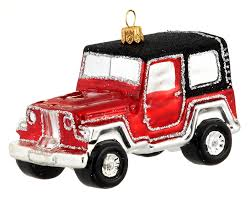 four wheel drive jeep car personalized ornament