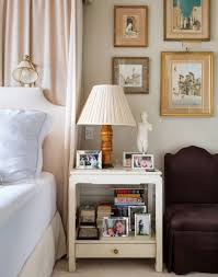 Bedside Table Ideas by Appealing Retro Style Bedroom With Sturdy Bedside Cabinet Ideas