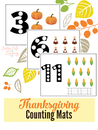 thanksgiving counting mats thanksgiving count and preschool plans