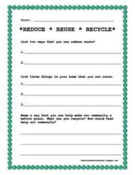 reduce reuse recycle freebie teaching earth day pinterest