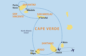 Cape Air Route Map by Archipelago Cape Verde Cape Verde Jules Verne
