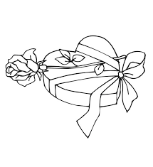 coloring pages of heart valentine present of hearts and roses coloring page valentine