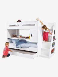 lit enfant ludique lit enfant pour combiné évolutif combibed blanc vertbaudet