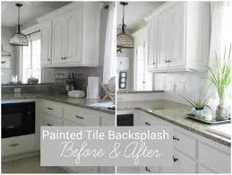 White Kitchen Glass Backsplash Flat Kitchen Cabinet Doors Makeover Zinsser Bulls Eye Painting