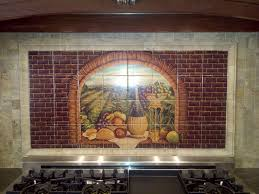 Kitchen Tile Backsplash Murals by Decorative Tile Backsplash Kitchen Tile Ideas Tuscan Wine Ii