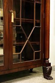 Mahogany Bookcase Late 1800s Flame
