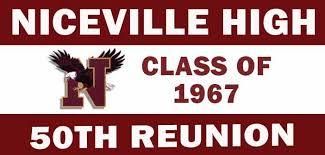 high school reunion banners niceville high school class of 1967 seeking classmates for 50th