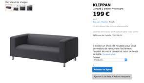 canapé klippan achetez canapé klippan gris occasion annonce vente à