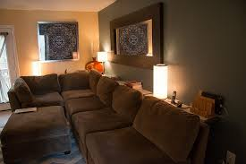 Decorating A Sofa Table Behind A Couch Fun Ideas Behind The Couch Bar Table Modern Wall Sconces And Bed