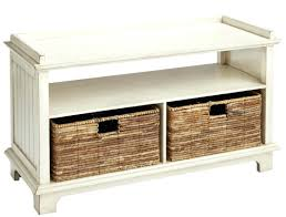 Wicker Storage Bench Bench Suitable Storage Bench With Wicker Baskets Light Wood