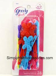 goody barrettes butterfly plastic hair barrettes 28 pk