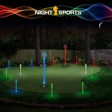 amazon com night sports usa backyard led night golf pitch and