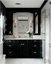 Black Bathroom Cabinet Decor Interior Black White Bathroom Decor