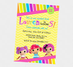 Lalaloopsy Invitation Cards Simply Lalaloopsy Party Invitation Ideas Features Party Dress