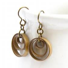 original earrings small gold circle earrings with niobium honeysquilling