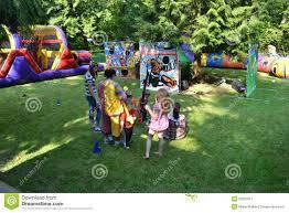 backyard theme park amusement park display in back yard editorial photography image