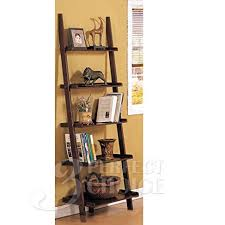 Cheapest Bookshelves Amazon Com Poundex Leaning Bookcase Bookshelf Dark Espresso