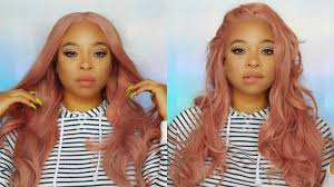 light in the box wig reviews iws 9 lib amazon rose gold pastel pink swiss lace wig 39 try