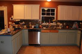 how to paint kitchen cabinets antique blue chalk painted kitchen cabinets two years later our